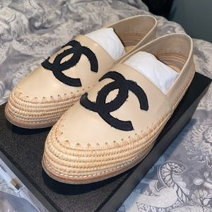 AUTHENTIC CHANEL Espadrilles. LIKE NEW!